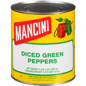 Mancini Green Diced Peppers