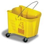 Continental Plastic Mop Bucket Yellow - 26 Qt.
