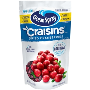 Craisins Original Sweetened Dried Cranberries - 6 Oz.