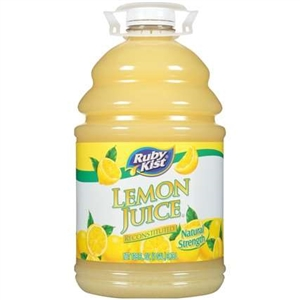 Clement Pappas Lemon Juice Plastic Bottle - 1 Gal.