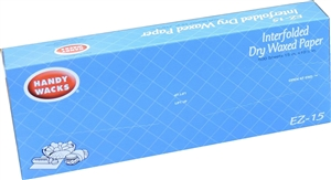 Handy Wacks Deli Interfolded Dry Wax Tissue - 15 in. x 10.75 in.