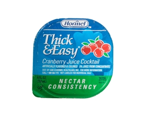 Hormel Thick and Easy Drink Cranberry Nectar Consistency Control Cups - 4 Oz.