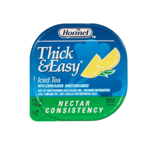 Hormel Thick and Easy Drink Iced Tea Nectar Consistency Portion Control Cups - 4 Oz.
