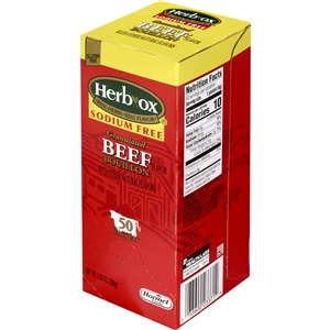 Hormel Low Sodium Beef Instant Broth Herb Ox
