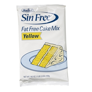 Hormel Sin Free Fat Free Yellow Cake Mix - 18.3 Oz.