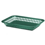 Tablecraft Rectangular Basket Forest Green
