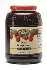 Carriage House Raspberry Preserves Red 4 Lb.