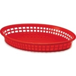 Ovel Red Color Basket - 12.75 in. x 9.5 in.