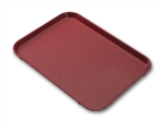 Serving Solutions Fast Food Tray Burgundy - 10 in. x 14 in.
