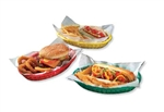 Tablecraft Plastic Oval Baskets Green - 9.38 in. x 6 in. x 1.88 in.