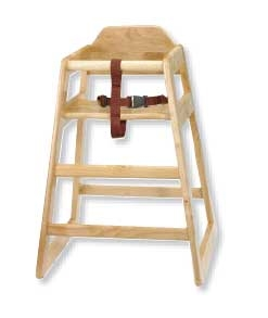 Tablecraft Natural Assembled High Chair