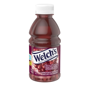 Welchs Cranberry Juice Cocktail Plastic Fluid Drink - 10 Oz.