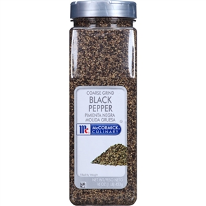 McCormick Spice Black Coarse Grind Pepper 1 Pound