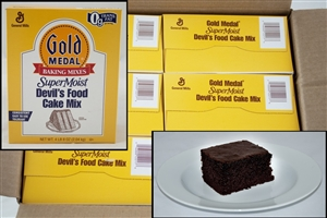 General Mills Supermoist Devils Food Cake Mixes - 4.5 Lb.