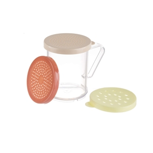 Tablecraft Dredge Set Beige Rose Yellow Lid - 10 Oz.