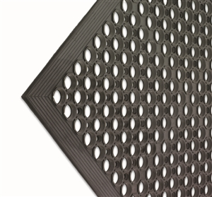 San Jamar Katchall Kitchen and Bar Mat Black 3 Ft. x 5 Ft. x 0.5 in.