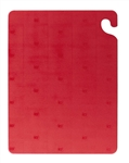 San Jamar Cut N Carry Cutting Board Red - 18 in. x 24 in. x 5 in.