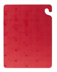 San Jamar Cut N Carry Katchall Cutting Board Red - 15 in. x 20 x 0.5 in.