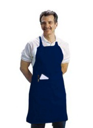 BVT-Chef Revival Navy Blue Full Length 30 in. x 34 in. Bib Apron