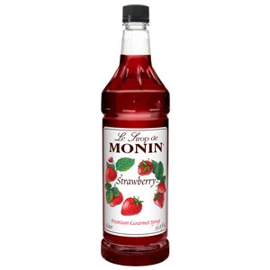 Monin Strawberry Flavor Syrup - 1 Liter