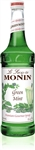 Monin Mint Green Flavor Syrup Glass - 750 Ml.