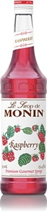 Monin Raspberry Flavor Syrup Glass - 750 Ml.