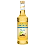Monin Sugar Free Vanilla Flavor Syrup Glass - 750 Ml.