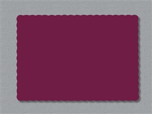 Smith Lee Scallop Edge Placemat Burgundy 9.75 in. x 13.75 in.