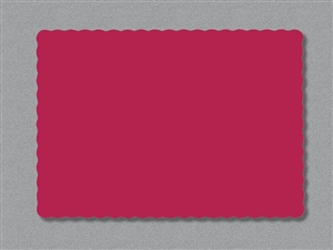 Smith Lee Scallop Edge Placemat Red 9.75 in. x 13.75 in.