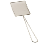 Tablecraft Stainless Steel Rectangle Fine Mesh Skimmer - 5 in. x 6.5 in.