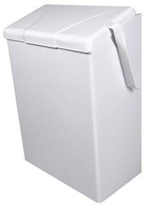 Continental Sanitary Napkin Flip Top Wall Mount Container