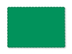 Smith Lee Scallop Edge Placemat Irish Green 9.75 in. x 13.75 in.