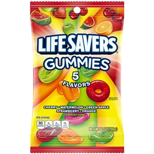 Wrigleys Lifesaver Gummies Five Flavor Candy - 7 Oz.