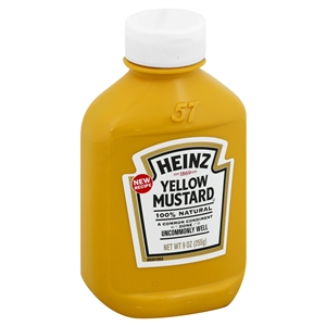 Heinz Plastic Squeeze Forever Full Mustard Yellow - 9 Oz.