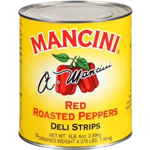 Mancini Roasted Red Pepper Strips