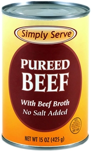 Vanee Foods Simply Serve Beef Pureed - 15 Oz.