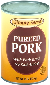 Simply Serve Pureed Pork with Pork Broth - 15 Oz.