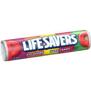 Wrigleys Lifesaver Five Flavor Candy - 1.14 Oz.