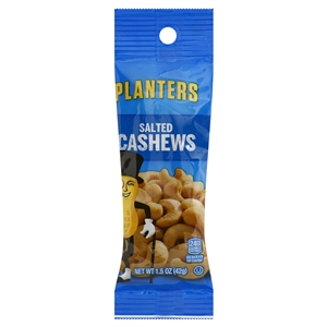 Kraft Nabisco Planters Salted Cashew Tube - 1.5 Oz.
