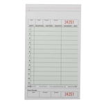 National Checking Carbonless Guest Check Paper Green 13 Lines - 4.2 in. x 7.25 in.