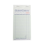 National Checking Carbon Guest Check Paper Green 2 Part - 3.5 in. x 6.75 in.