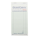 National Checking Carbonless Guest Check Paper Green 2 Part - 3.40 in. x 6.75 in.