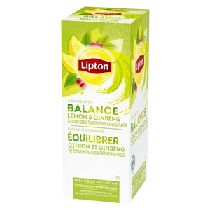 Unilever Best Foods Lipton Green Tea Lemon Ginseng 28 Bags Tea