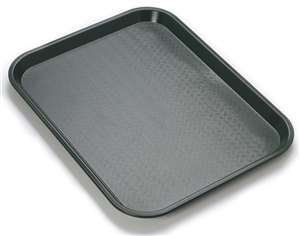 Black Plastic Fast Food - 10 in. x 14 in.