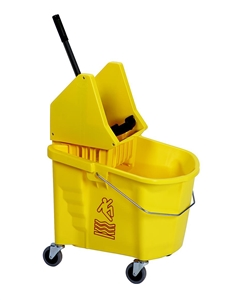 Continental Combo Bucket and Wringer Yellow - 35 Qt.