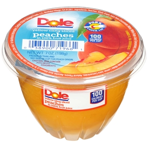 Dole Peach Sliced In Light Syrup - 7 Oz.