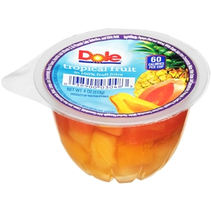 Dole Tropical Fruit In Juice Cup - 4 Oz.