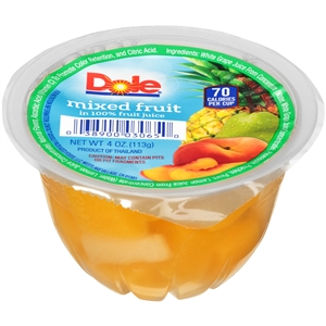 Dole Mixed Fruit In Light Syrup - 4 Oz.