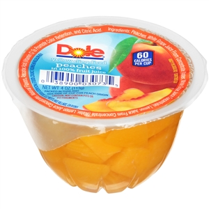Dole Diced Peach In Light Syrup - 4 Oz.