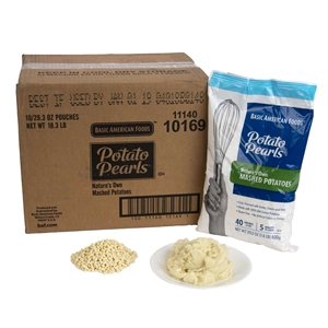 Basic American Natures Own Potato Pearls Premium 29.28 oz. Mashed Potatoes